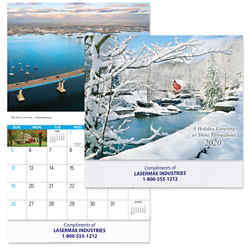 Customized Reflections Wall Calendar with Color Imprint