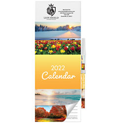 Customized Nature Monthly Magnetic Calendar Pad with Pen