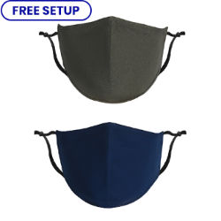 Customized Blank Fitted Cotton Mask with Antimicrobial Additive