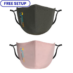 Customized Full Color Custom Fitted Cotton Mask with Antimicrobial Additive