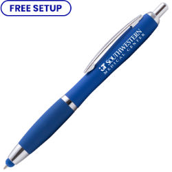 Customized Bright Soft Touch Riley Pen with Stylus Tip