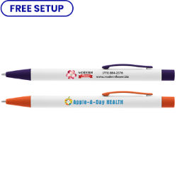 Customized Britebrand™ White Arlington Pen