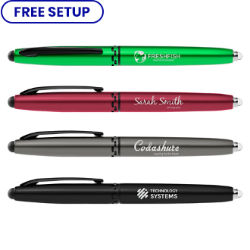 Customized Wes Flashlight Stylus Metal Pen