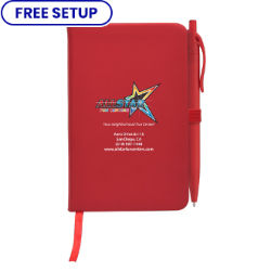 Customized Full Colour Inkjet Notebook & Poppy Pen Gift Set