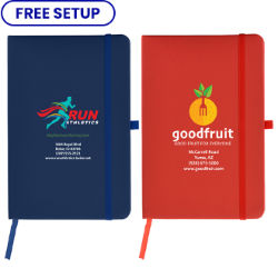Customized Full Colour Inkjet 7''x10'' Soft Touch Cate Notebook