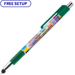 Customized Colorama Deluxe Pen with Stylus Tip & Antimicrobial Additive