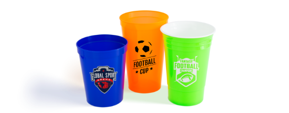 Custom Stadium Cups & Plastic Cups Hero of Logo Cups