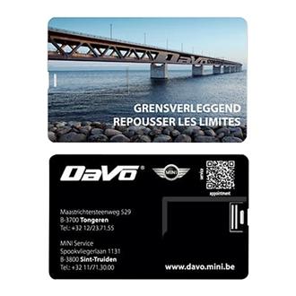 Customized Royce Credit Card USB Drive - 4GB