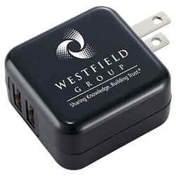 Customized UL Certified Dual USB AC Adaptor