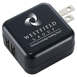 Customized UL Certified Dual USB AC Adaptor