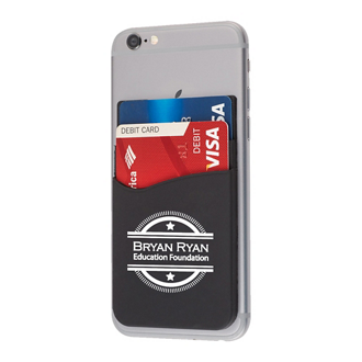 Customized Dual Pocket Silicone Phone Wallet