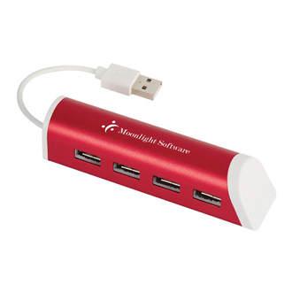 Customized 4 Port Aluminum USB Hub with Phone Stand