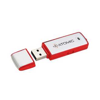Customized Rec 4GB Flash Drive with Key Chain