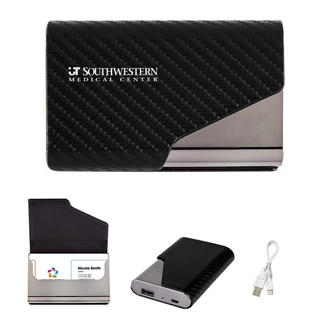 Customized UL Listed 2-In-1 Zeus Power Bank with Card Holder