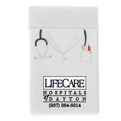 Customized Doctor Silicone Mobile Device Pocket