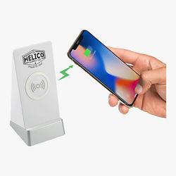 Customized Weston Wireless Charging Power Bank Stand w/ Speaker