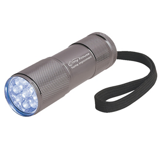 Customized The Stubby Aluminum LED Flashlight with Strap
