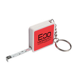 Customized Square Tape Measure Key Tag