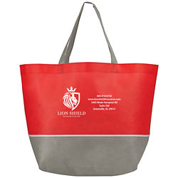 Customized Budget Shopper Tote with Gray Trim