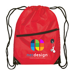 Customized Full Color Inkjet Everyday Commuter Drawstring Backpack