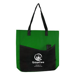 Customized Joyce Budget Tote Bag with Large Pocket & Pen Slot