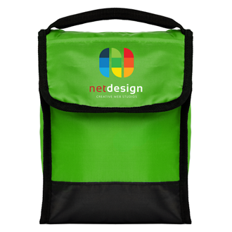 Customized Full Color Inkjet Tera Foldable Lunch Bag with Front Pocket