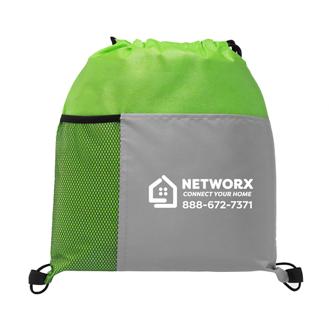 Customized Brin Drawstring Bag
