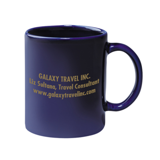 Customized 11 Oz Colored Stoneware Mug - Cobalt