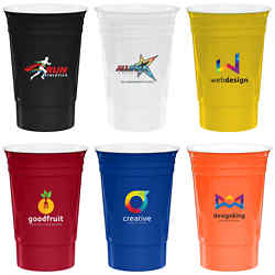 Customized 16 oz Reusable Run Stadium Cup - Full Color Inkjet