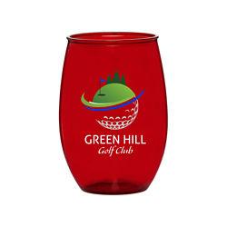 Customized Full Colour Inkjet 16 oz. Stemless Gigi Plastic Wine Glass