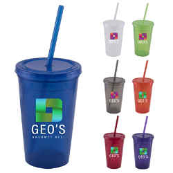 Customized 16 oz Ace Double Wall Tumbler - Full Color Inkjet