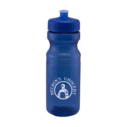 Customized Translucent Sport Bottle w/ Push Pull Lid - 24 oz