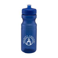 Customized Translucent Sport Bottle w/ Push Pull Lid - 24 oz
