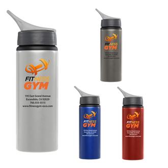 Customized Britebrand™ 24 oz. Aluminum Posy Water Bottle