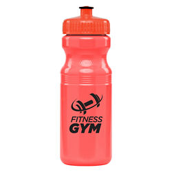 Customized 24 oz. Bright Sport Bottle with Push & Pull Lid