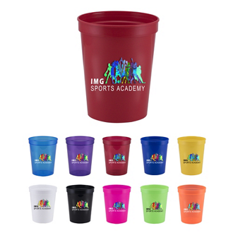 Customized 16 oz Ava Plastic Stadium Cup - Full Color Inkjet