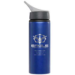 Customized 24 oz. Aluminum Posy Water Bottle with Laser Engraved Imprint