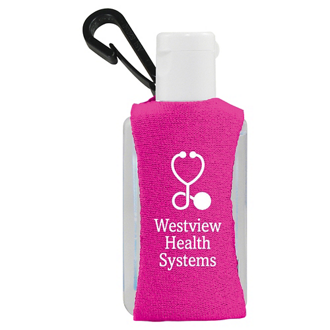 Customized 1 oz Purell® Sanitizer in a Clip