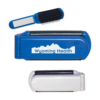 Customized Kwik-Fix Folding Brush with Mirror