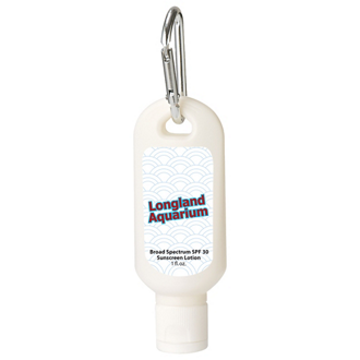 Customized 1 oz SPF 30 Sunscreen with Carabiner