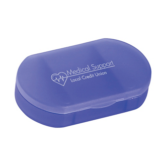 Customized Oval Shape Pill Holder