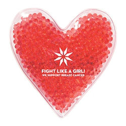 Customized Heart Shape Gel Beads Hot/Cold Pack