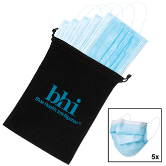 Customized Disposable Non-Surgical Face Masks in Pouch