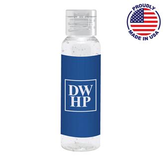 Customized 2 oz. Tall Antibacterial Hand Sanitizer Gel