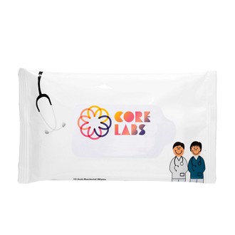 Customized Antibacterial Pouch Wipes - Doctor and Nurse