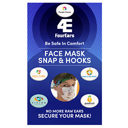 Customized Custom BibBoards® Face Mask Snap & Hook Ear Savers