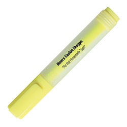Customized Rectangular Yellow Highlighter - Chisel Tip