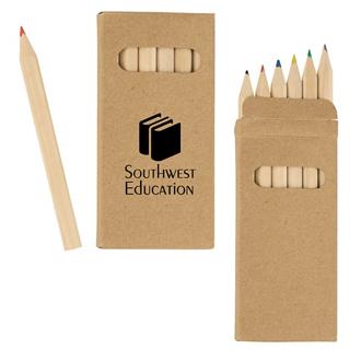 Customized 6 Piece Colored Pencil Set
