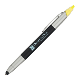 Customized 3-In-1 Pen with Highlighter and Stylus