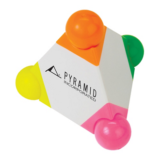 Customized 4 Color Pyramid Highlighter